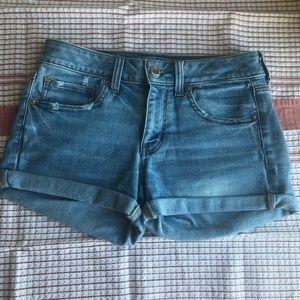 AEO Midi jean shorts